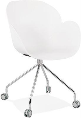 Design Bureaustoel Wit.Alterego Design Bureaustoel Jeff Wit Op Wieltjes Stoel Kopen