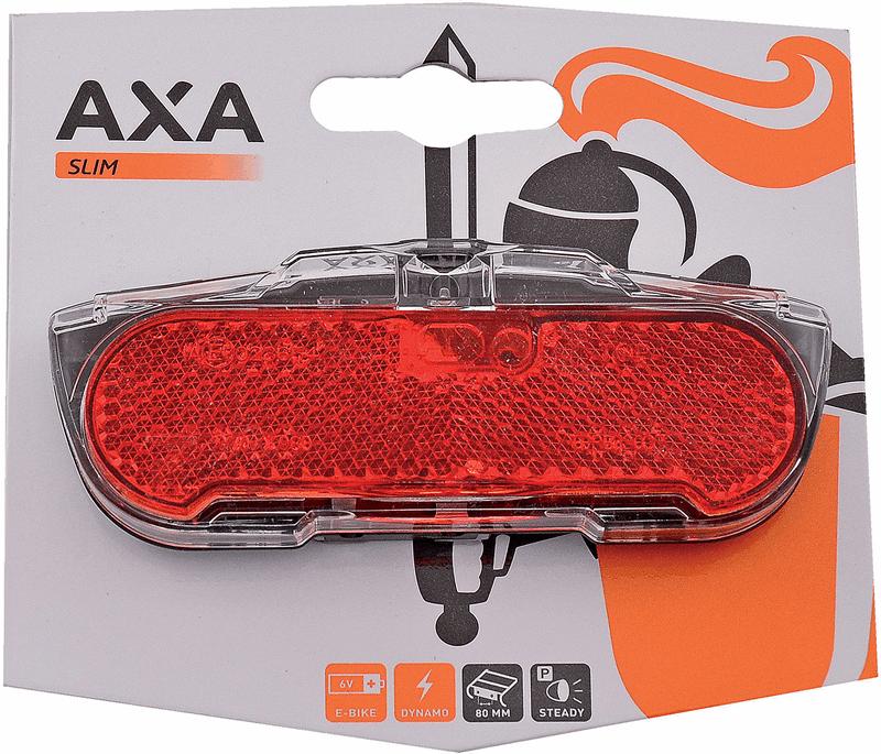 axa fietsverlichting achterlicht zwart