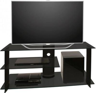 Tv Meubel En Kast.Vcm Tv Meubel Kast Subuso 120 Cm Verrijdbaar Zwart Zwart Glas