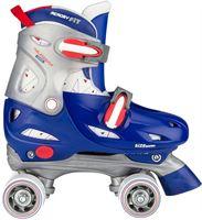 Nijdam Junior Rolschaatsen Junior Verstelbaar Hardboot - Roller Rage - Blauw/Rood/Zilver - 30-33