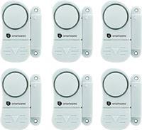 Smartwares set van 6 compacte magnetische alarmsystemen voor deuren ramen etc