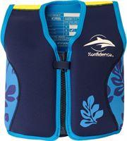 Konfidence - Zwemvest kind – Kinderzwemvest - Drijfvest voor kinderen van ca. 1 5 tot 3 jaar en 12-20 kg – Palm/Blauw
