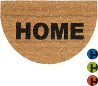Relaxdays deurmat kokos 60x40 halfrond Home kokosmat kokosdeurmat voetmat