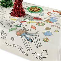 Partywinkel Kerst Tafelkleed Kleurplaat 91x120cm