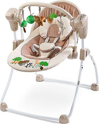 Schommelstoel Elektrisch Baby.Caretero Elektrische Babyschommel Schommelstoel Forest Beige Kopen