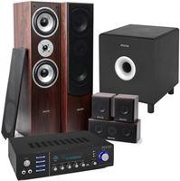 Fenton Home Cinema set van met Bluetooth 5 speakers walnoot een 10 actieve subwoofer en luidspekerkabel