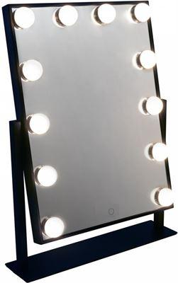 Wonderbaar Mirrors and Dressers Zwarte Visagiespiegel visagie spiegel make-up YE-45