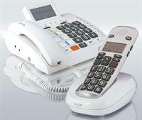 Humantechnik Scalla-3 JUMBO VASTE TELEFOON + DRAADLOZE HANDSET combinatie geschikt voor SLECHTHORENDEN en SLECHTZIENDEN