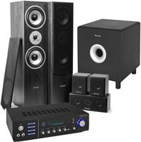 Fenton Home Cinema set van met Bluetooth 5 speakers zwart een 10 actieve subwoofer en luidspekerkabel
