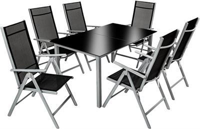Tectake tuinset aluminium frame stoelen en tafel