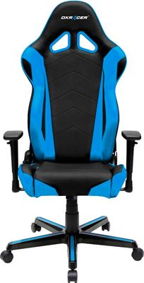 Fabulous Dxracer Racing Series Gaming Chair Black Blue Oh Rz0 Nb Andrewgaddart Wooden Chair Designs For Living Room Andrewgaddartcom