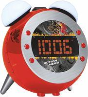 Soundmaster UR140RO Wekkerradio met projectie en wake-up light rood