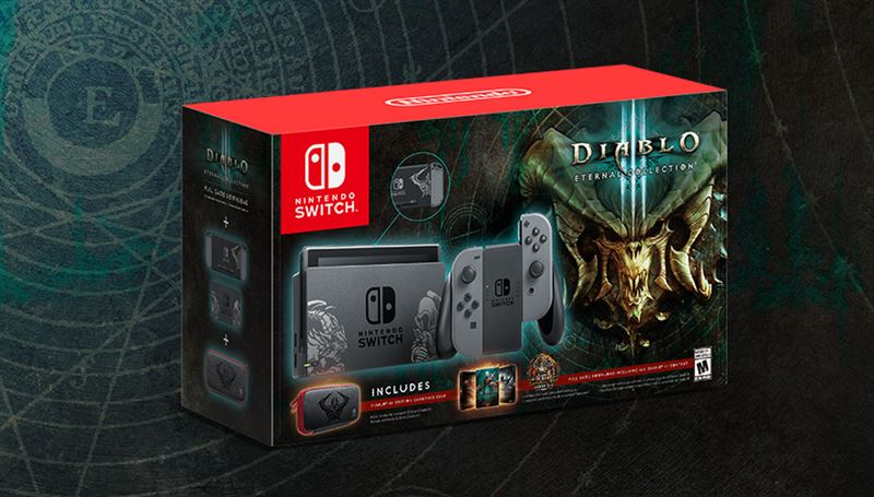 Nintendo Switch 32GB / grijs / Diablo III: Eternal Collection