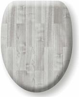 Tiger Comfort Feel softclose toiletzitting MDF 37 x 44 cm houtlook grijs