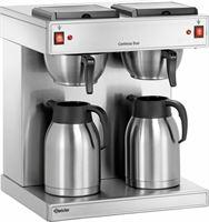 Bartscher Koffiemachine Contessa Duo | Chroomnikkelstaal | Inhoud 2x2 Liter | 430x400x H 520mm