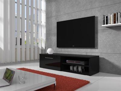 Tv Meubel Zwart Hoogglans.Meubella Tv Meubel Bash Hoogglans Zwart 120 Cm Kast Kopen
