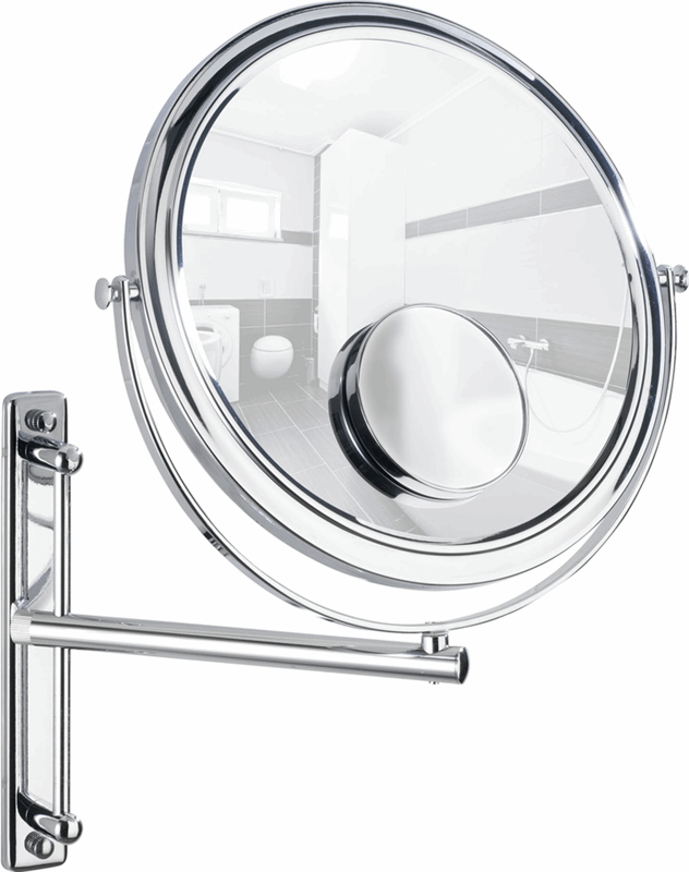 WENKO Wall-mounted cosmectic mirror Bivona wall-mounted mirror 3x and 7x magnification