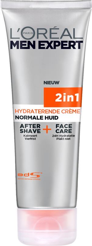 L'Oréal 2 in 1 Men Expert Hydra Energetic 2in1 - 75ml - Aftershave en Gezichtscrème