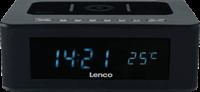 Lenco CR-580 Zwart - Wekkerradio - Met draadloze oplader - Bluetooth en Temperatuurweergave