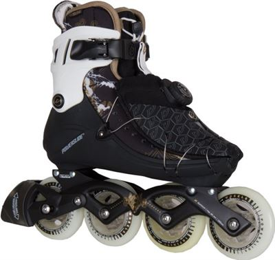 cef975de418 Powerslide Vi 84 Pure Inline Skate Dames Inlineskates - Maat 39 - Vrouwen -  zwart/wit/goud