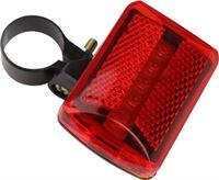 Sport-Plein Fiets Achterlicht Achter Lamp - 5 x LED Fiets verlichting - Stadsfiets Racefiets Mountainbike - Afneembaar - Rood