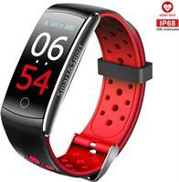 Drphone V9 High - Activity Tracker - Sporthorloge - Hartslagsensor - Bloeddrukmeter - Vermoeidheidmeter - SpO2 - IP68 waterproof - Wandelen / Rennen / Hiken - Notificaties - Complete Smartwatch Alternatief Alternatief HUAWEI / Fitbit modellen - Rood