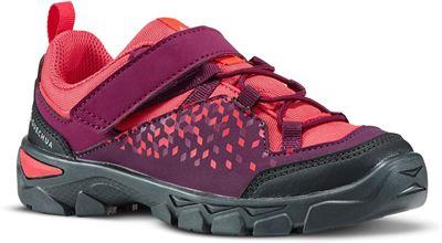62d74c9ff51e71 Quechua Lage wandelschoenen met klittenband voor meisjes MH120 maat 28 tot  34 paars