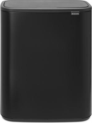 Brabantia Prullenbak 30 Liter Aanbieding.Brabantia Bo Touch Bin 2 X 30 Liter Mat Zwart Prijzen Op Kieskeurig Nl