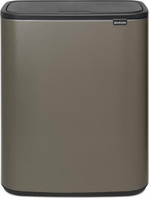 Aanbieding Brabantia Touch Bin 30 Ltr.Brabantia Bo Touch Bin 2 X 30 Liter Platinum Prijzen Op Kieskeurig Nl