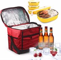 AA Commerce Large Thermo Lunchtas Koeltas - Rood Picknick Tas Koeltasje Lunch Bag - Lunchtasje Lunchbox