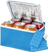 Shoppartners Kleine blauwe koeltas met 2x koelelementen set
