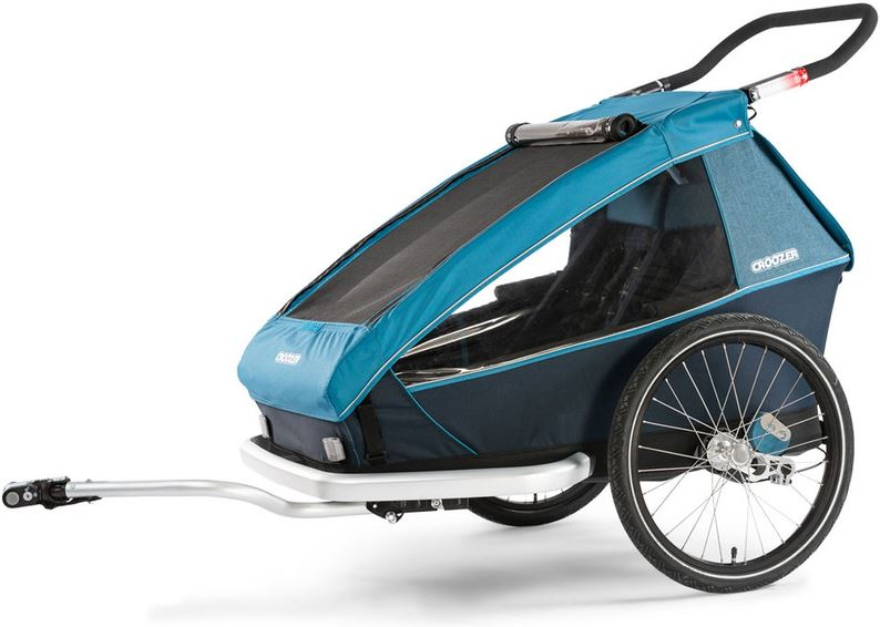 Croozer Kid Plus For 2 Fietstrailer blauwzwart 2019 Kinderaanhangers