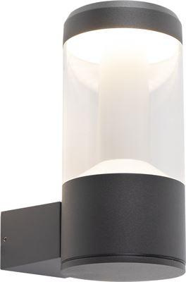 QAZQA Moderne ronde buitenwandlamp donkergrijs Imcus