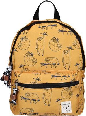 8dea6ba5626 Kidzroom Animal Academy Kinderrugzak 31 cm Unisex - Geel - Schattige  luiaard print