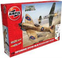 Airfix Supermarine Spitfire Mkvb Messerschmitt Bf109E Dogfight Doubles Gift Set Modelbouwpakket