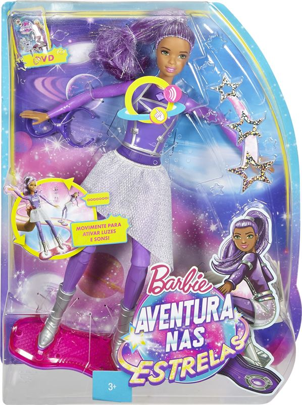 Barbie Disney Star Light Adventure Lights & Sounds Hoverboarder Doll