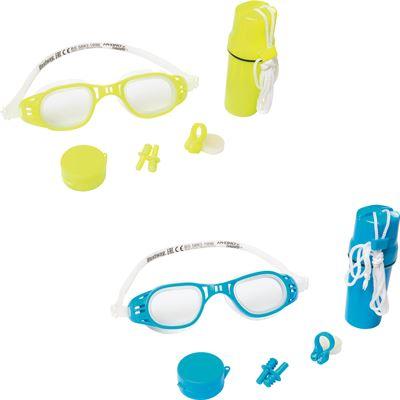7848ad0d5ef618 Bestway Zwembril met neusklem en oordopjes 7 jr+