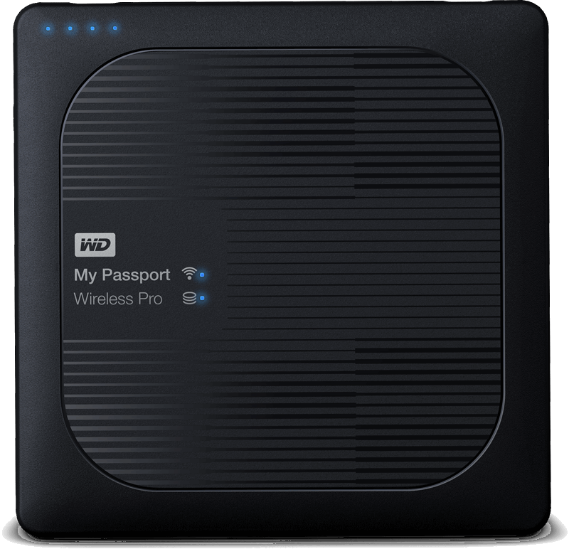 Western Digital My Passport Wireless Pro Externe draadloze HDD 1TB Zwart