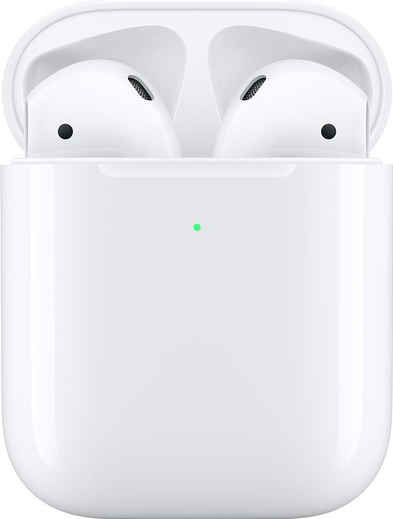 Apple AirPods 2 met draadloze oplaadcase wit