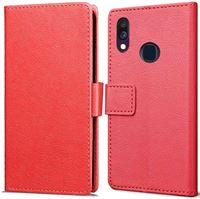 qMust Samsung Galaxy A40 Wallet Hoesje Rood rood