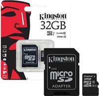 Kingston Het Origineel 32GB Micro SDHC Class 10 UHS-I 45R FlashCard Single Pack w/o Adapter
