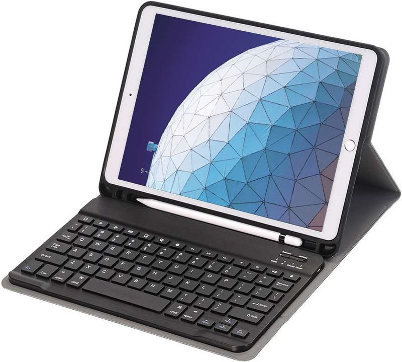 Just in Case Premium Apple iPad Air (2019) Bluetooth Toetsenbord Hoes Zwart QWERTY