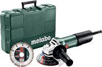 Metabo W 850-125 SET Haakse slijper incl. 1 diamantzaagblad in koffer - 850W - 125mm