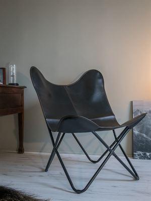 Design Stoel Fauteuil.Panama Klassieke Vlinderstoel Zwart Butterfly Chair Design Stoel