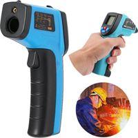 Omeram *NIEUWSTE* Infrarood thermometer Thermometers Digitale temperatuurmeter IR Pyrometer Draadloze thermometer Laser Blauw