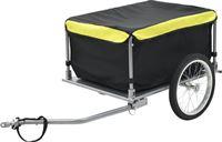 vidaXL Fietskar zwart en geel 65 kg