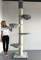 RHRQuality Krabpaal Maine Coon Tower Licht grijs plafond voor grote en zware katten van