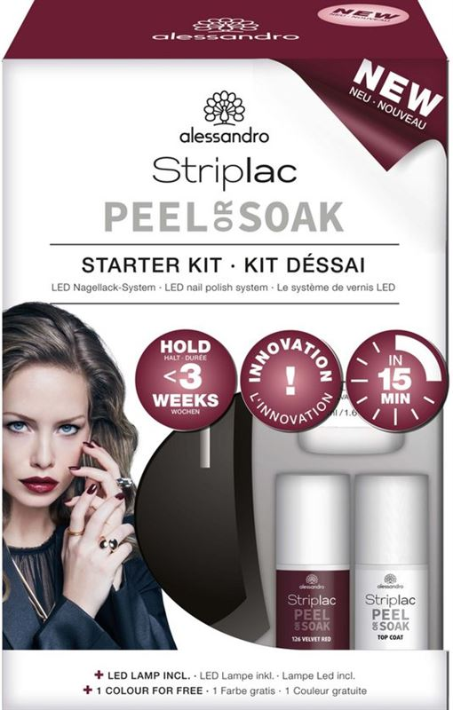 Alessandro Striplac Peel or Soak Starter Set
