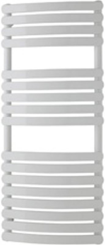 Eastbrook Handdoek radiator multirail tube on tube curved staal wit 60x60cm 481 watt - Staverton