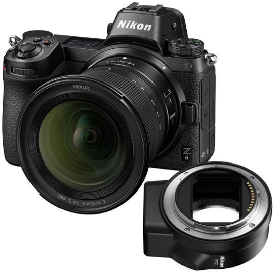 Nikon Z6 full-frame systeemcamera met Z 14-30mm 1:4 S en FTZ adapter